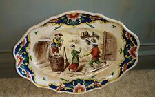 Antique Continetal French ? Faiance Ceramic Platter