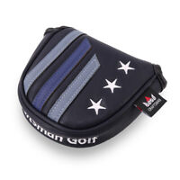 Black Magnetic Mallet Putter Headcover For Odyssey Taylormade Scotty Cameron New