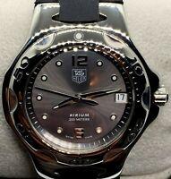 Tag Heuer Kirium Men's Luxury Watch WL111G-0 Gray Dial Rubber Strap