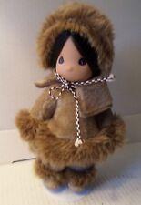 """1994 Precious Moments 9"""" Children Of The World Doll Eskimo Sulu Alaska"""