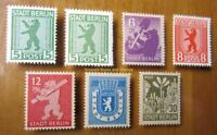 EBS Germany 1945 Soviet Zone SBZ - Berlin Bear - Berliner Bär - Michel 1-7 MNH**