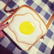 Harajuku Poached eggs on toast Messenger Bag Kawaii Yummy Shoulder Bag Cute New