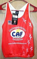 Suarez CAF Florida 2 Girls Red Razor Back Athletics Tank Top Sz L Bottle Holder