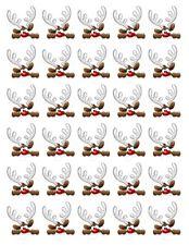 Weihnachten eßbar Muffin Torten-Bild-Aufleger Deko Rudolf Rentier Keks Cupcake