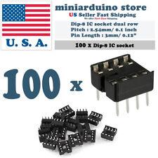 100pcs Dip-8 IC Socket Solder Type Double Row 8PIN DIP Integrated Circuit