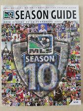 2005 MLS SOCCER LEAGUE SEASON GUIDE 10TH YEAR ANNIVERSARY
