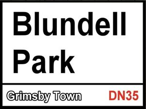Blundell Park Sign, Football sign, Grimsby Town sign. Retro wall sign