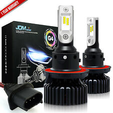 JDM ASTAR 2x 60W 8000LM 6500K LED Headlight H13 9008 Beams Fog Light Bulbs White