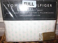 Tommy Hilfiger MELROSE Aqua Floral Dot 4P Full Sheet Set