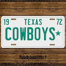 Dallas Cowboys NFL Football Team TX Texas1972 Prop Replica License Plate Tag