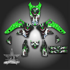 KAWASAKI KX450F KXF 450 2006 - 2008 GRAPHICS KIT DECALS EVIL JOKER GREEN