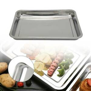 45cm Stainless Steel Large Oven Baking Roasting Dish Tin Tray Bake Containers