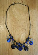 Pretty Blue Stone, Mother of Pearl Necklace