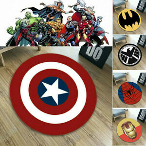 Superhero Carpet Non Slip Mat Floor Rug Bathroom Bedroom Marvel Iron Man Pad Toy