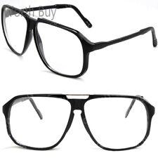 Retro Vintage Clear Lens Frame Oversized Glasses Fashion Nerd Mens Womens Greek