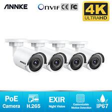 Annke Cctv Bullet Ip 4K 8Mp Video PoE Camera Home Surveillance Security System