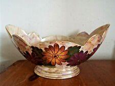 More details for j fryer ltd oldcourt ware large vase planter gondola shape wide mouth lusterware