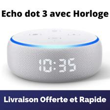 Echo Dot 3 Enceinte Connectée Assistant Amazon avec Horloge Alexa Tissu Sable