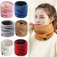 Unisex Knitted Scarf Solid Winter Snood Lady Warm Wool Ring Neck Scarves C5P6