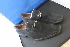 Fratelli select Mens Suede Loafers size 9 1/2 m ( BLACK SUEDE)