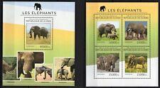 GUINEE 2014 LES ELEPHANTS LOXODONTA AFRICANA WILD ANIMALS FAUNA STAMPS MNH**