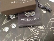 Stud Earrings P2381. Nib Silpada Cubic Zirconia Sterling Silver