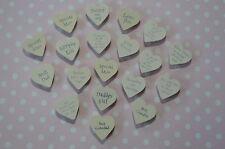 East  of India MAGNET Wooden Heart Fridge Small Gift Present Shabby Chic Token