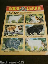 LOOK and LEARN # 185 - CAT QUIZ - JULY 31 1965