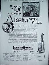 1928 CANADIAN NATIONAL RAILWAY Spirit Alaska Yukon Ad