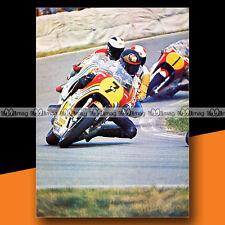 ★ BARRY SHEENE sur SUZUKI ★ 1976 Grand Prix ASSEN Mini-Poster Moto Photo #MP132