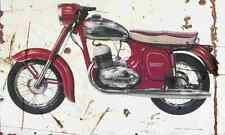 Jawa 250 Automatic 1963 Aged Vintage SIGN A4 Retro