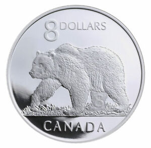 Canadian $8.00 The Great Grizzly Proof COIN ONLY 50% OFF CATALOG