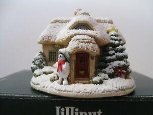 "Lilliput Lane L2779 ""Snowed Under"" Mint in original box with deed."