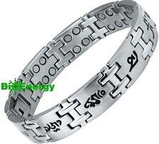 Stainless steel Magnetic Energy  Armband  Power Bracelet Health  Bio MAGNET