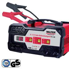 WALTER Auto-Batterieladegerät mit Starthilfe 6V/12V 12A Schnelladen