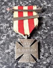 More details for st ursula's club antique 1905 sterling silver maltese cross medal with ribbon
