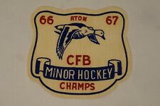 Canadian RCAF CFB Minor Hockey Champs 1966-67 Patch 2