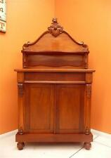 antique inlaid Mahogany Victorian Chiffonier CUPBOARD no key dining lounge