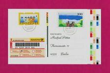 Einschreiben: Amtl. POST-GA farbige Druckerei-Markierungen + ATM 400 Nr. 3 cod.