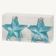 Decoración Árbol Navidad Paquete De 6 100mm Inastillable Glitter Stars