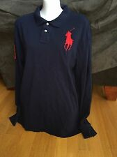 Boy's Polo Ralph Lauren Blue Shirt Big Red Pony Size XL 18-20 L/S #3 Men's ?