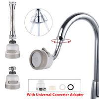 Diffuser 360 Degree Swivel Head Water Bubbler Extender Nozzle Faucet Aerator