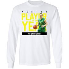 Men's #3 Payton Pritchard Oregon Ducks men's basketball White T-shirt S-5XL