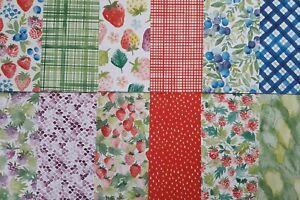 """Stampin up ✿ Designerpapier Sommerbeeren ✿ 6"""" x 6"""" DSP 15,2 x15,2 cm Erdbeeren"""