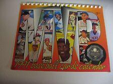 1991 BASEBALL CARDS CALENDAR - Mantle/ Ruth/ Williams/ DiMaggio/ Gehrig - EXC