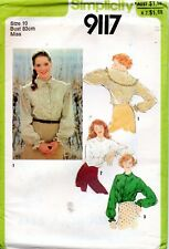 70s Simplicity Sewing Pattern 9117 Misses Long Sleeved Blouse Size 10