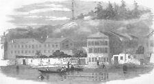 TURKEY. telegraph Station, Bosphorus, antique print, 1855