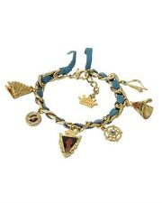 ~New~Kidada for Disney Couture POCAHONTAS Gold Plated Multi Charms Bracelet