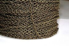 10ft 3x2mm Antique Brass Cable Chain links-unsoldered 1-3 day Shipping