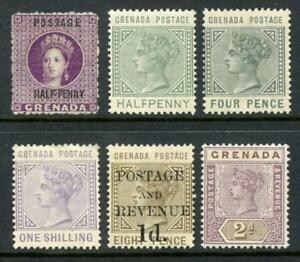 Grenada QV Mint, Unused Lot. Mixed Values to 1/-. Cat £245